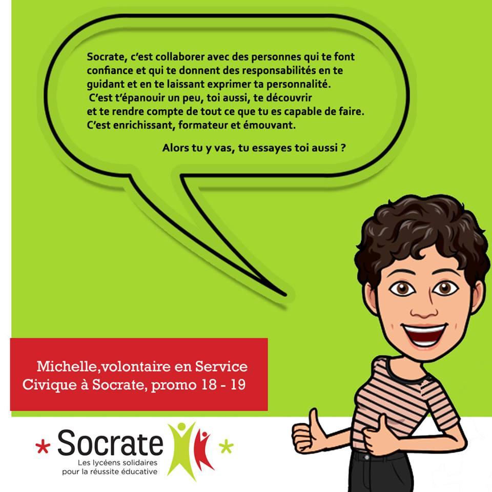 «Mon Volontariat chez Socrate», par Michelle