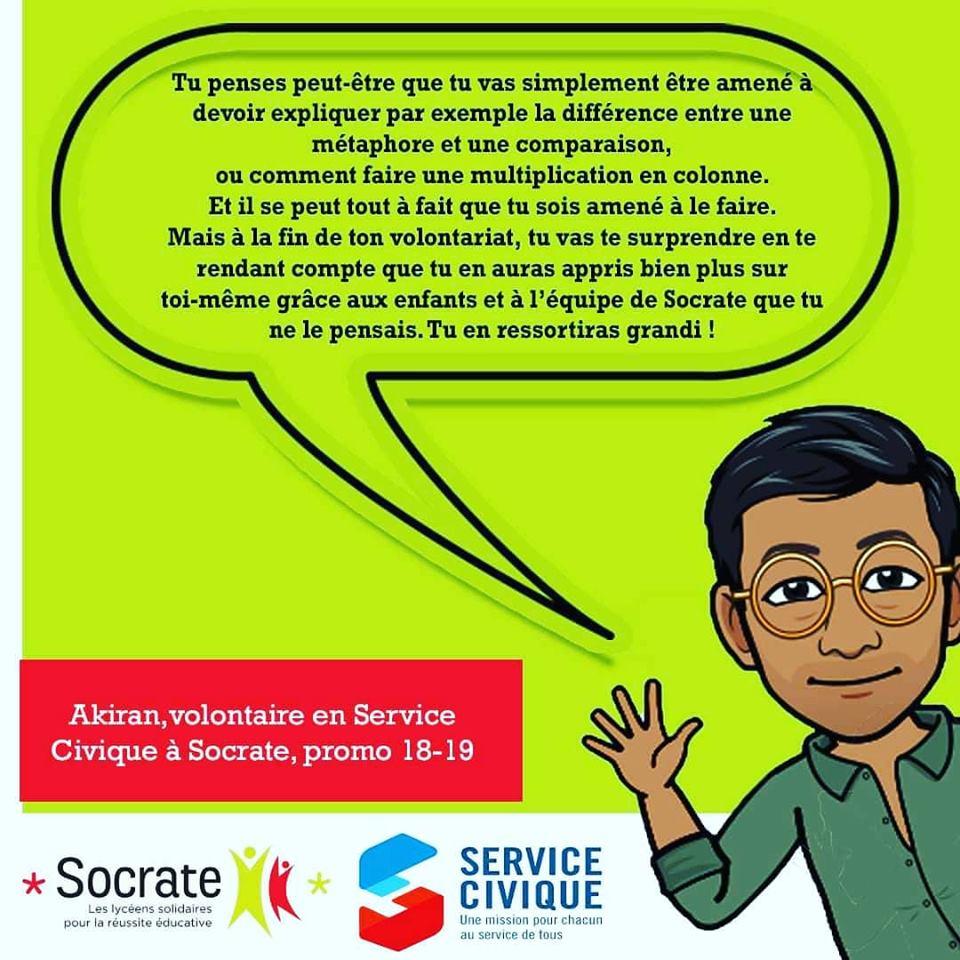«Mon Volontariat chez Socrate», par Akiran